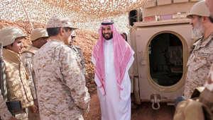 بالصور.. محمد بن سلمان يتفقد القوات على الحدود مع اليمن