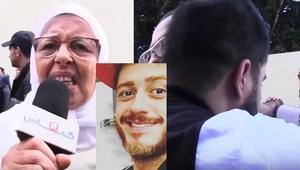 شاهد.. دموع وابتهالات واتهامات بالمؤامرة في وقفة تضامنية مع سعد لمجرد