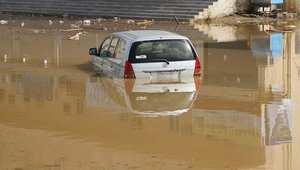 المياه في شوارع مكة