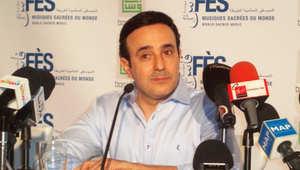 صابر الرباعي في المؤتمر الصحفي