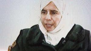 السجينة العراقية ساجدة الريشاوي في صورة أرشيفية