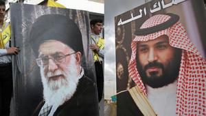 صورة لولي عهد السعودي الأمير محمد بن سلمان في طرابلس، شمال لبنان وأخرى للمرشد الأعلى لإيران آية الله علي خامنئي في النبطية، جنوب لبنان