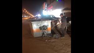 """تداول فيديو يظهر جهاز """"ساهر"""" قرب حاوية قمامة في السعودية.. و """"المرور"""" يعلّق"""