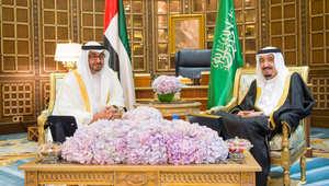 """محمد بن زايد في الرياض: السعودية والخليج بأيد أمينة في ظل """"خبرة وحنكة"""" الملك سلمان"""