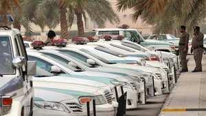 صورة أرشيفية لعناصر ومركبات تابعة للشرطة بالسعودية.