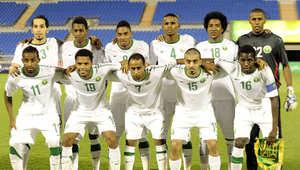 المنتخب السعودي لكرة القدم في إحدى مبارياته
