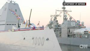 شاهد.. البحرية الأمريكية تدشن أحدث وأقوى سفنها USS Zumwalt