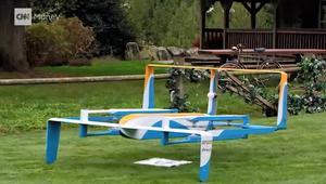 أول طلب توصيل لأمازون بطائرة موجَّهة يصل في 30 دقيقة فقط