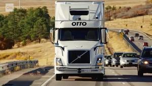 شاهد.. أول رحلة عمل لشاحنة ذاتية القيادة
