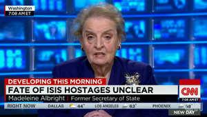 وزير الخارجية الأمريكية السابقة تبين لـCNN موقفها من مفاوضات الرهائن مع داعش