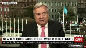 الأمين العام الجديد للأمم المتحدة يتحدث لـCNN عن سوريا