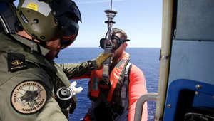 البحث جواً فوق المحيط الهندي