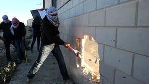 خلال عملية الحفر في الجدار الفاصل
