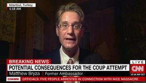 سفير أمريكا الأسبق بتركيا لـCNN: المخططون للانقلاب قللوا من شأن أردوغان..وهذا ما توقعوه