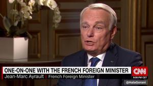 وزير خارجية فرنسا لـCNN: عدم ضرب قوات الأسد بـ2013 كان قرارا سياديا لأمريكا