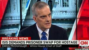 كبير موظفي البيت الأبيض يعلق لـCNN على طلب داعش مبادلة الرهينة الياباني بالسجينة الأردنية ساجدة الريشاوي