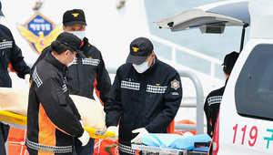 جثة تم انتشالها من السفينة الغارقة