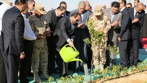 """السيسي يدشن مشروع الـ1.5 مليون فدان ويبدد مخاوف """"سد النهضة"""""""