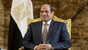السيسي دعم مصر أمام غانا من أسوان رفقة  وزير الشباب