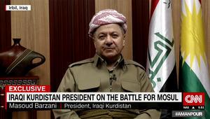 بارزاني يبين لـCNN ما يعتمد عليه داعش بمعركة الموصل