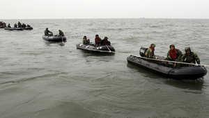 عمليات البحث عن المفقودين من السفينة الكورية الجنوبية الغارقة