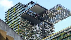 بالصور..النباتات تغطي أفضل مبنى مرتفع في العالم