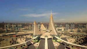 تصميم لإحدى المدن الذكية التي يخطط رئيس الوزراء الهندي لبنائها