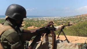 صورة أرشيفية لأحد عناصر قوات حفظ السلام قرب العاصمة مقديشو