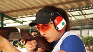 اللبنانية راي باسيل بطلة العالم في الرماية تسعى إلى اقتناص اللقب الأولمبي