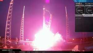 إطلاق ناجح لصاروخ فالكون 9  الى الفضاء وفشل بهبوطه