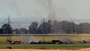 تحطم طائرة شحن عسكرية خلال رحلة تجريبية بجنوب إسبانيا وأنباء أولية بـ3 قتلى
