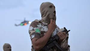 عنصر من القوات الخاصة السعودية خلال تدريبات