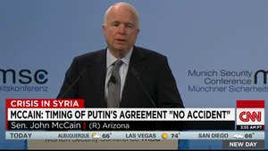 جون ماكين من ميونخ: الاستخبارات الأمريكية أكدت علنا أن روسيا عززت استقرار نظام الأسد ودفعته للهجوم