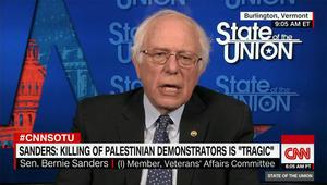 """حصريا لـCNN.. ساندرز ينتقد رد فعل إسرائيل """"المبالغ فيه"""" بمظاهرات غزة"""