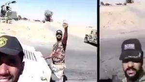 """الحشد ينشر فيديو لجنود يستقبلون الموت بـ""""سيلفي"""" في الموصل"""