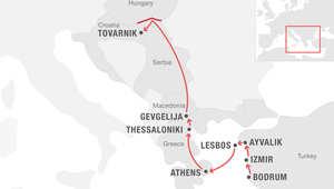 على الخريطة.. تتبع خطوات المهاجرين من تركيا إلى أوروبا