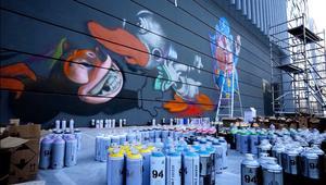 شاهد.. فن الغرافيتي في دبي