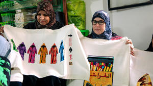 فن التطريز الفلسطيني يتألق بأعمال
