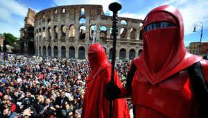 يوم حرب النجوم في روما أمام الكولوسيوم