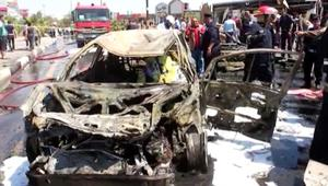 بالفيديو: مصرع 5 أشخاص وإصابة 10 آخرين بتفجير سيارة مفخخة في البصرة
