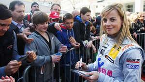 سوزي وولف أول امرأة في سباق فورمولا 1 منذ 22 عاما