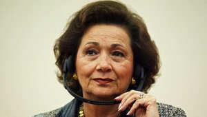 صورة أرشيفية لسوزان مبارك، زوجة الرئيس المصري الأسبق حسني مبارك