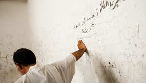 صورة التقطت لأحد المعتقلين في سجون تنظيم داعش شمال سوريا