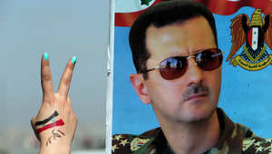 ملصق انتخابي للأسد