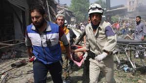 """سوريا.. 82 قتيلاً في """"مجزرة"""" جديدة لطائرات النظام في """"دوما"""""""