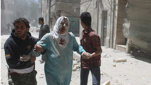 ناجون منقصف جوي في حلب