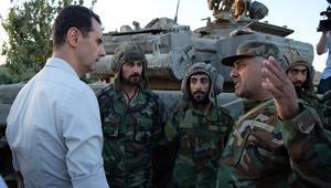 جولة الأسد على النقاط المتقدّمة بالخطوط الأمامية في مزارع بلدة مرج السلطان