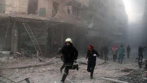 لقطة أثناء قصف جوي