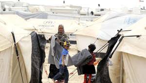 لاجئة سورية في مخيم الزعتري