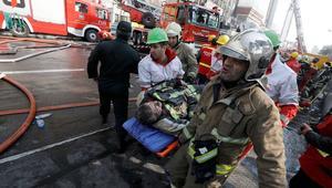 انهيار برج بطهران: فقدان 35 عنصر إطفاء ومخاوف من مصرع 30 على الأقل